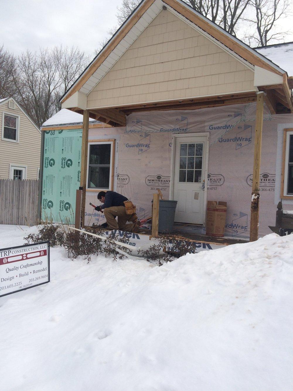 Enclose porch to create mudroom - Before