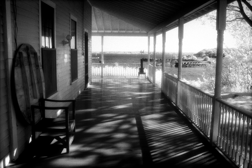 Island Porch  , Great Diamond Island, Maine, 1986   Infrared gelatin silver print