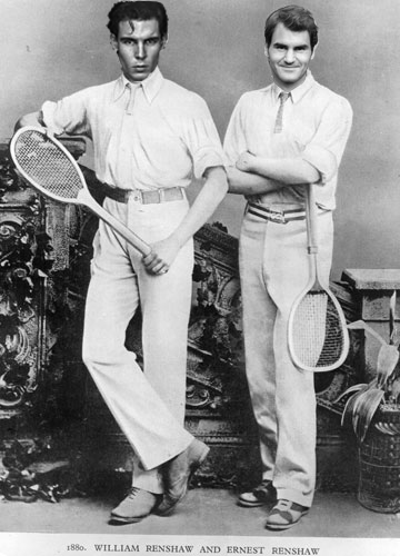 Rafa and Roger as William and Ernest Renshaw