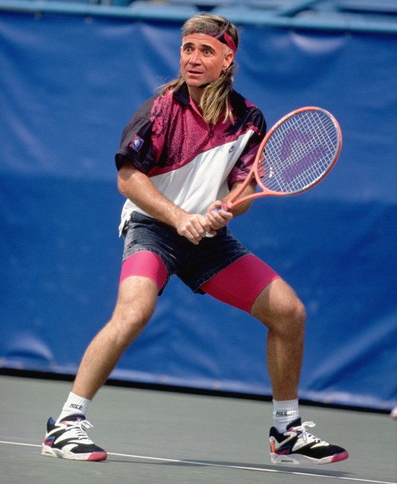 Old Andre Agassi as Young Andre Agassi