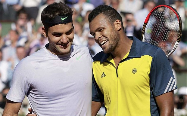 Federer and Tsonga Wimbledon 2013