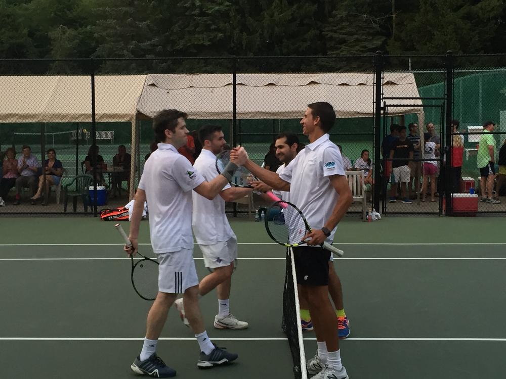 A fantastic end to a Great Match and #1 Doubles