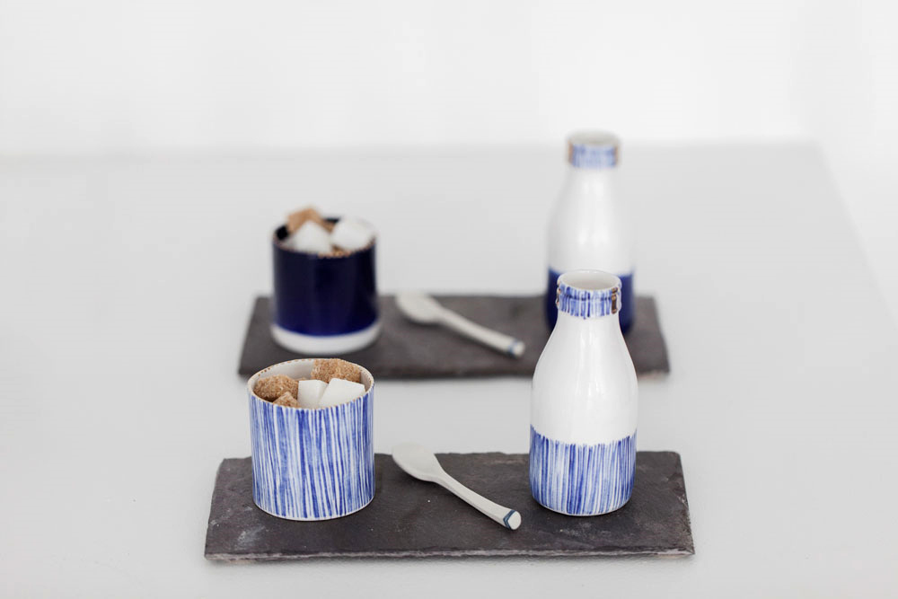 Rebecca Killen Ceramics - Cobalt Milk & Sugar Set