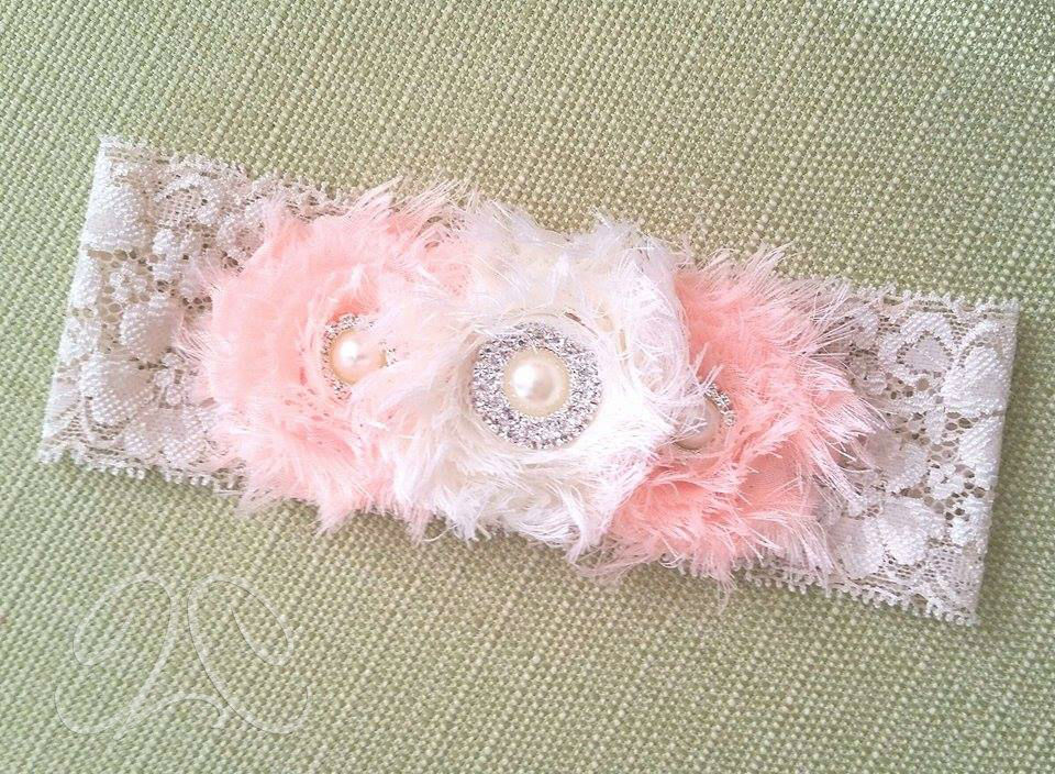 A sophisticated headband in lace to make any girl feel even more beautiful. Great for church services (out or in the home) or just because it is dripping with sweetness.