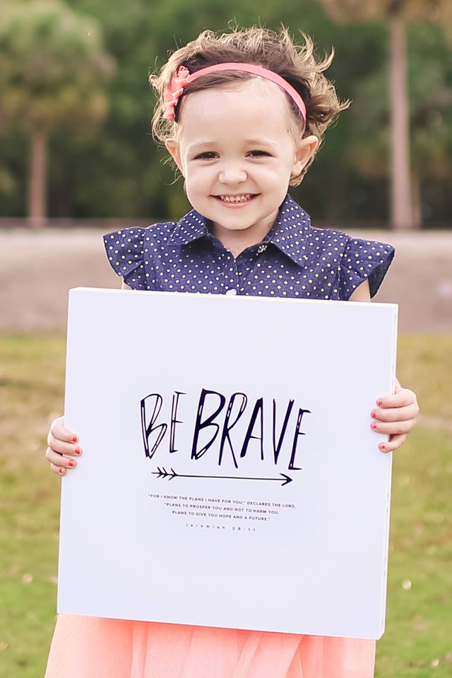 Be BRAVE is exactly what this fighter has been. What you see in most updates are the positives, but you don't see all of the struggles. We cannot even imagine what these children and their families go through, especially those who haven't been there. Those of you who have, our prayers are with you, and you ARE brave as well.