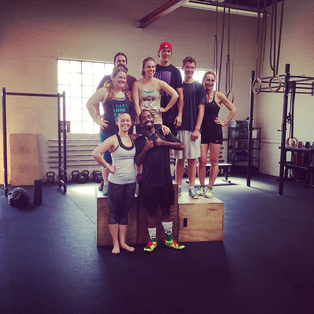 "Team Finish, on the podium.  From ""Daring Greatly - My First CrossFit Competition"""