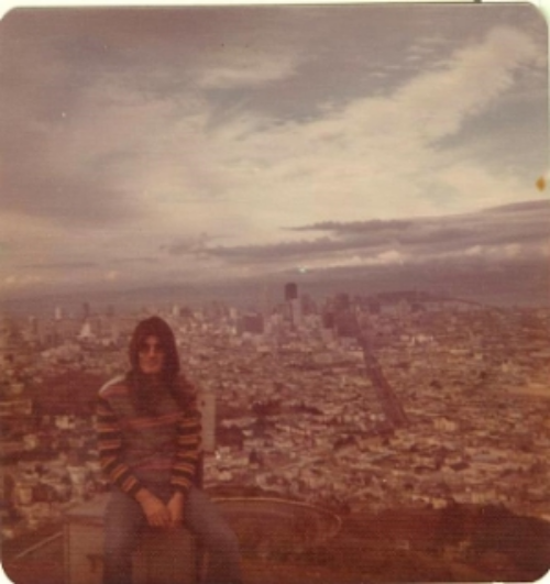 Jaye at Twin Peaks, San Francisco, 1970's