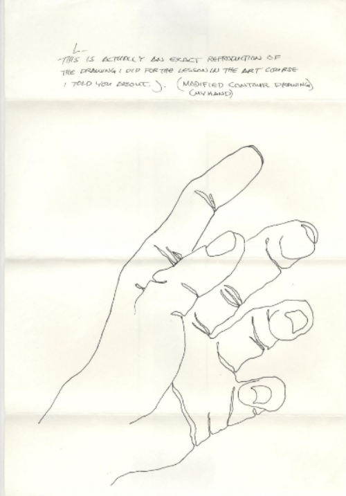 Drawing in a letter sent to Lisa, 1983