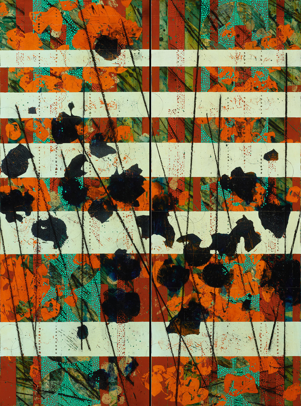 Grass, Slat, Pollen, Poppy