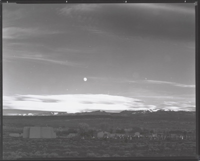 © Ansel Adams.  Moonrise over Hernandez, Contact Print