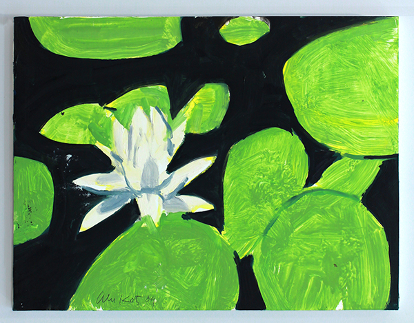 "Alex Katz, ""Homage to Monet 5,"" 2009, oil on board, 9 x 12 in. (22.9 x 30.5cm). Courtesy the artist and Peter Blum Gallery, New York."