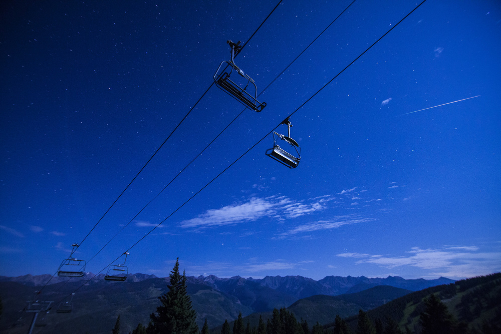 Chairlift and Stars