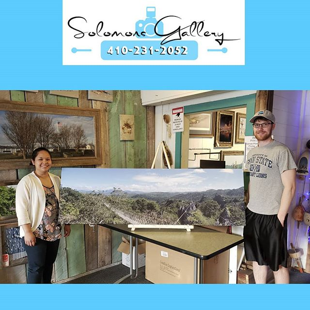 "Dan and Abby Winters are our Print Of The Day! They took this image at Masungi Georeserve in the Philippines with their cell phone. We did a gallery wrapped GiClee print at 68""wide x 21"" tall. Everything we do is custom, there are no upcharges for custom sizes here at Solomons Gallery. Come by and bring your images. We'll turn them into art!  #SolomonsGallery #SolomonsIsland #Artwork #ModernArtwork #MarylandPhotography #MetalPrinting #Masungigeoreserve #Photographer #TerryQuinn #Somd #BarnWoodFraming #CanvasPinting #Abbywinters #Danwinters #Cellphonepics #SoMd #SoMdArtwork"