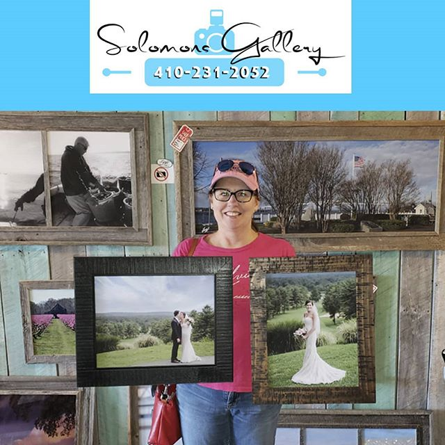 "Our ""Print Of The Day"" was done for Angie Vazquez of her daughter's wedding, which was at Eagles Nest Country Club in Towson, Maryland. We printed her images on 11 x 14 canvas and framed them for her. Please keep Solomons Gallery in mind for all of your canvas and metal printing needs. Thanks for supporting a Veteran Owned Small Business!  #VeteranOwnedSmallBusiness #SolomonsGallery #SolomonsIsland #Artwork #ModernArtwork #MarylandPhotography #MetalPrinting #Photographer #TerryQuinn #CalvertCounty #StMarysCounty #BarnWoodFraming #CanvasPinting #SoMd #SoMdArtwork #CellPhonePics #GiftIdeas #AngieVazquez #EaglesNestCountryClub #Wedding #WeddingGifts"