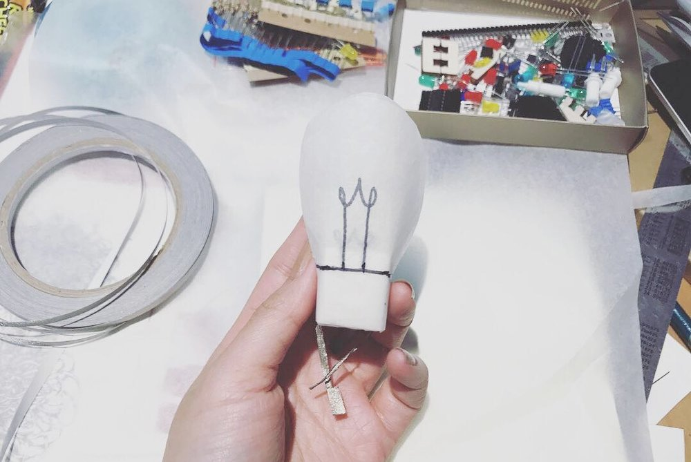 Very meta me : 2(.5)D Paper Light Bulb from LED :P