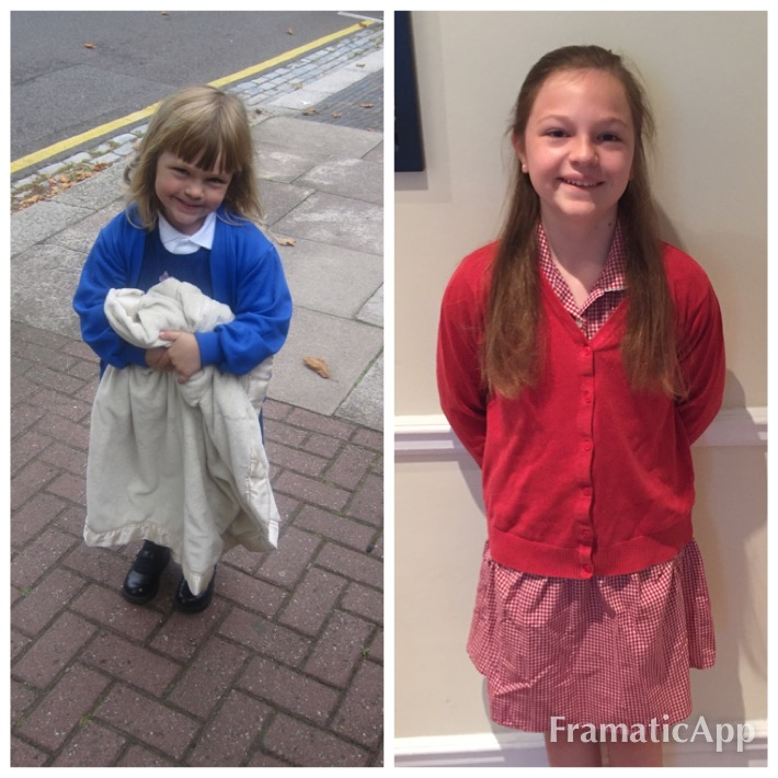 Dev's first day and last days of primary school.