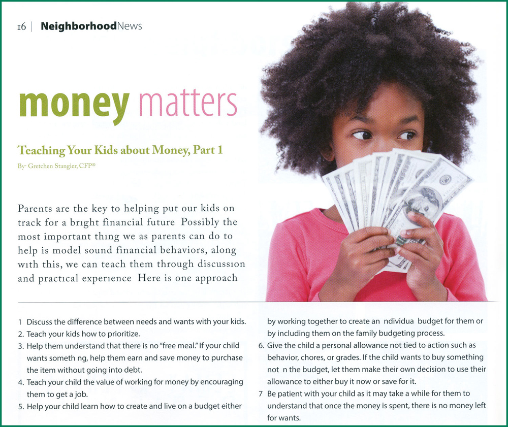 click here for November Money Matters