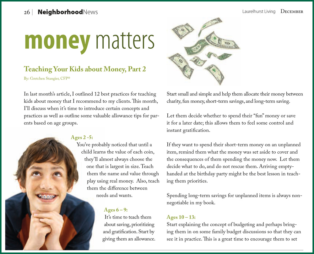 Click here for December Money Matters