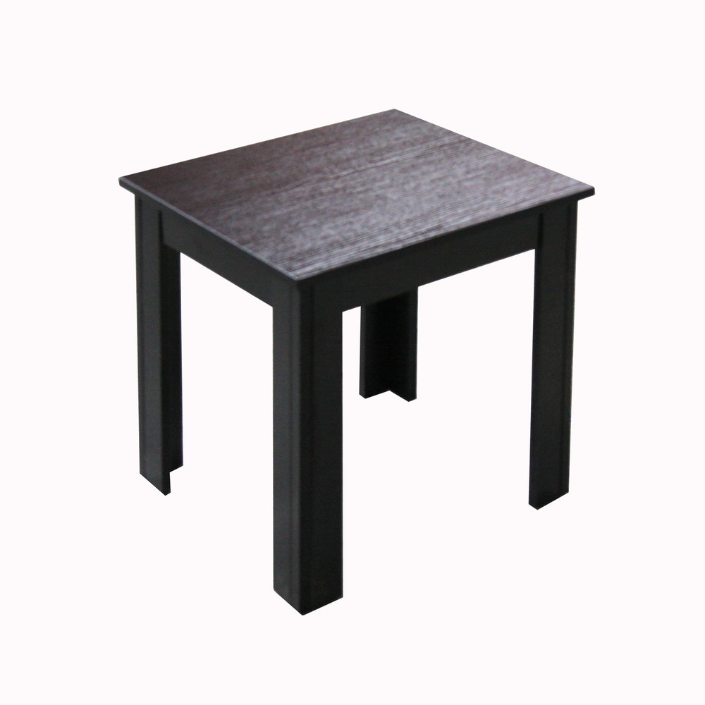 Gentil Almost Black Wood End Table