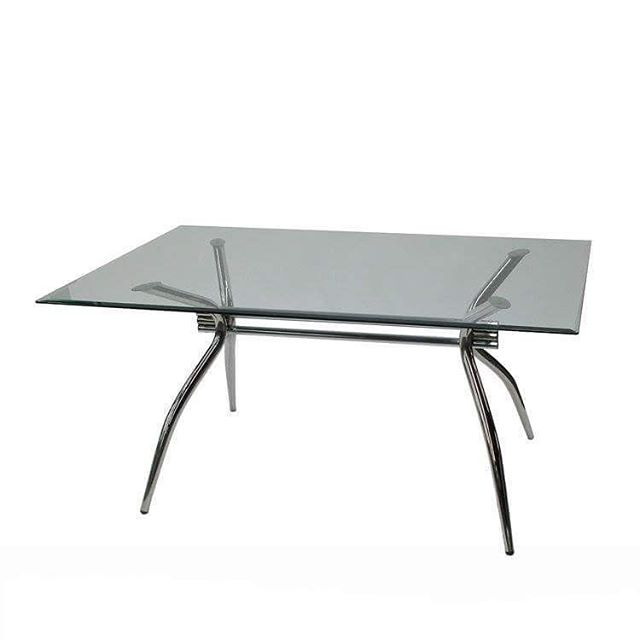 Conference: Sterling - TG400 Model Number - Color - Size: - TG400 - Chrome (Base) Glass (Top)  Measurement: 60W 36D 29H  #MetroOfficeFurnitureRental #conferencetable #sterling #conference #table #glass #bevel #chrome #base #measurements #furniture #rental #nyc #available #classic #party #event #bar #office #quality #specialevents