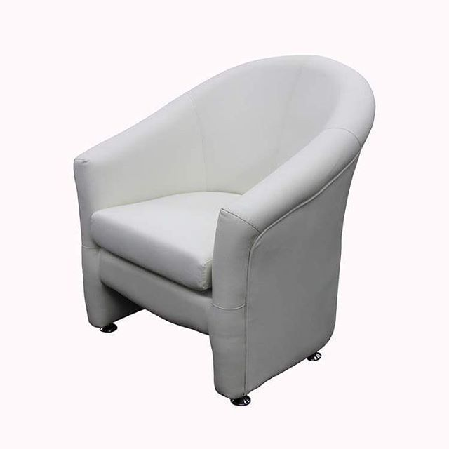 Club Chair: Non Swivel - LC106 Model Number - Color: - LC106 - White  #MetroOfficeFurnitureRental #clubchair #club #chair #couch #cushion #comfortable #furniture #rental #nyc #white #one #seat #leather #event #office #quality #available #classic #bar #specialevents