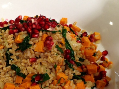 Pomegranate and Rice Medley Stuffing