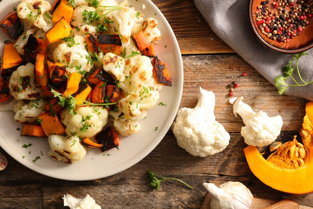Pumpkin Cauliflower Roast