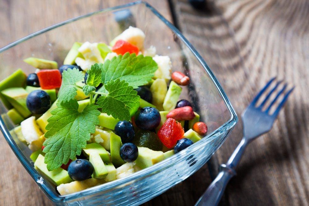 Papaya Avocado Berry Salad