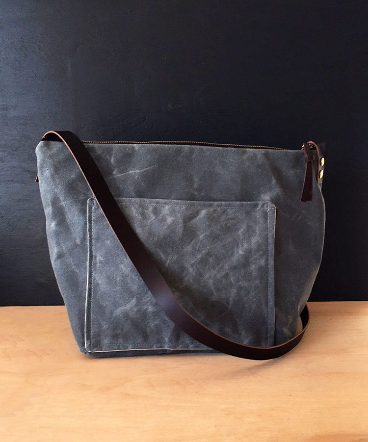 dac27345e69ef large charcoal waxed canvas crossbody — thread & paper