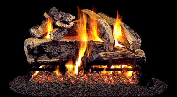 "Charred Rugged Split Oak   Available in 16"", 18"", 24"" and 30"" sizes"