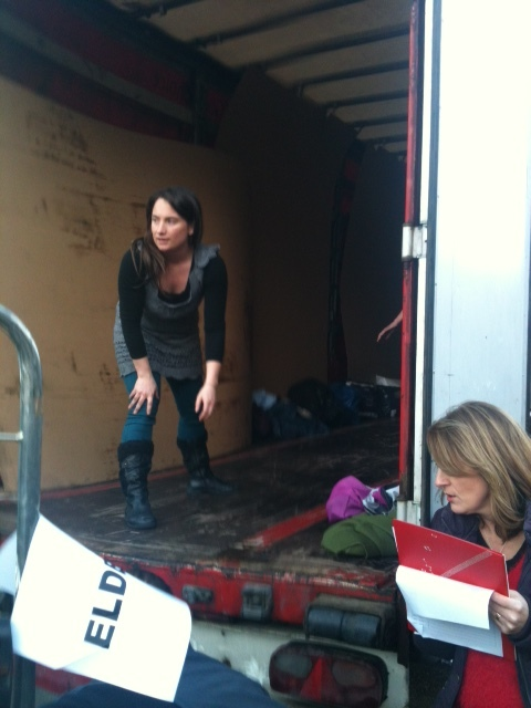 Samara Levy and volunteers loading a lorry for Iraq