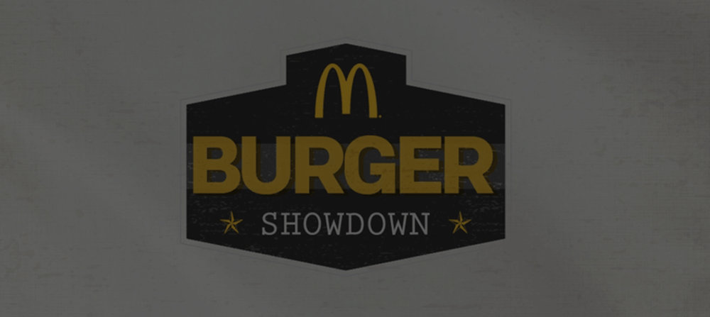 McDonald's Burger Showdown Microsite -