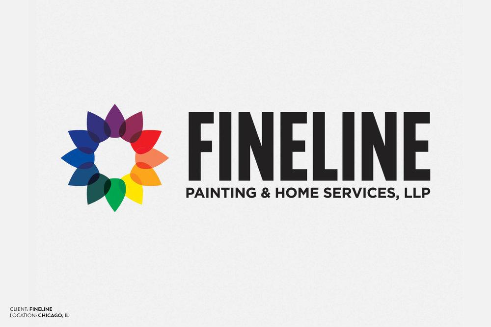 Fineline Paint Logo Design