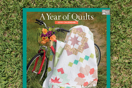 OUR PATTERNS I'm a calendar girl! My quilt is featured in Martingale's That Patchwork Place Quilt Calendar 2015. And that's our quilt on the cover!