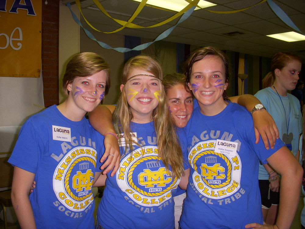 Hallie on the far right at Mississippi College. Fall 2010.