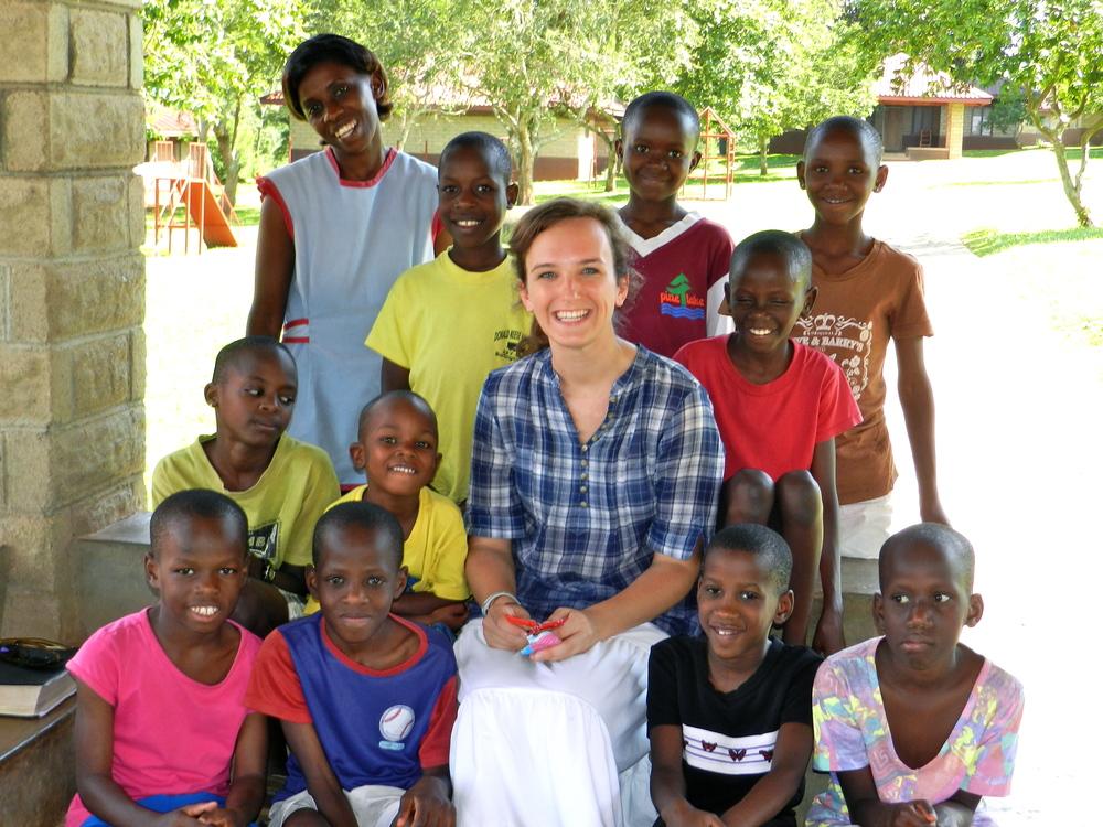 Hallie andCottage 2 at Rafiki Children's Village Uganda. Fall 2011.