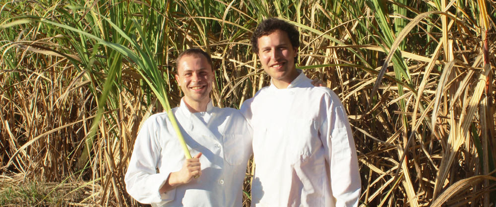Sourcing sugar cane in Barbados, 2015. (Chief Product Officer Massimiliano Matté and CEO Christopher Wirth)