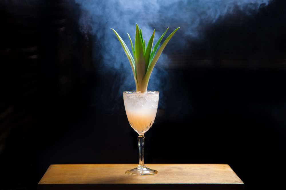 The Lychee Rose   1.0 oz Lady Lychee 1.5 oz gin  0.5 lime juice 6.0 drops lavender bitters 1.0 egg white Shake vigorously for 20 seconds Strain or Double Strain into empty glass (preferably coupe or like glass) 1.0 oz La Croix Piña Fraise. Top with drops of Bitters, enjoy! (Recipe by  Shaun Traxler )