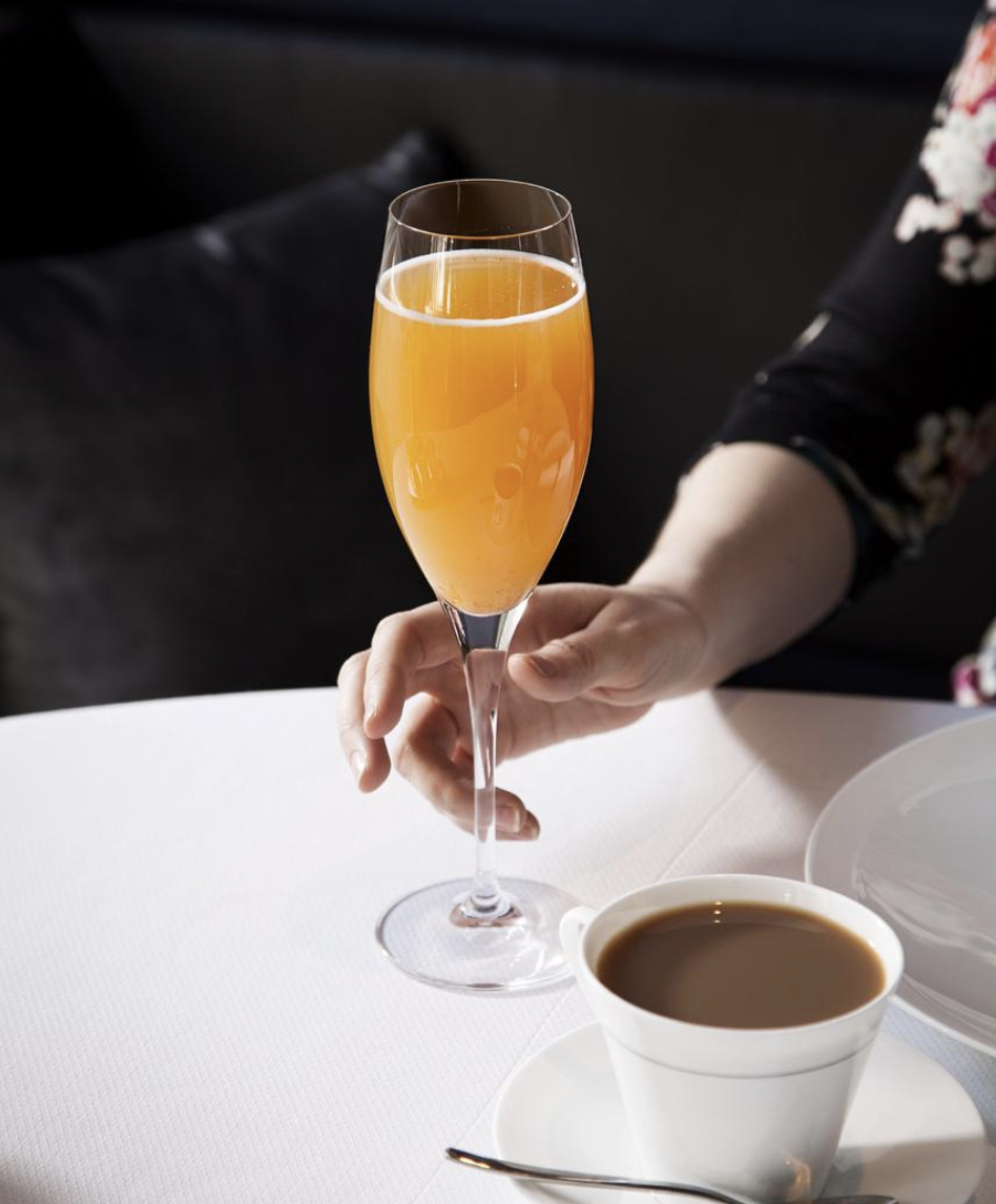 Bellini 1.5 oz Harriet Peacher Stowe 2.5 oz Prosecco (Recipe by The Modern at MOMA, Photo by Eric Medsker)