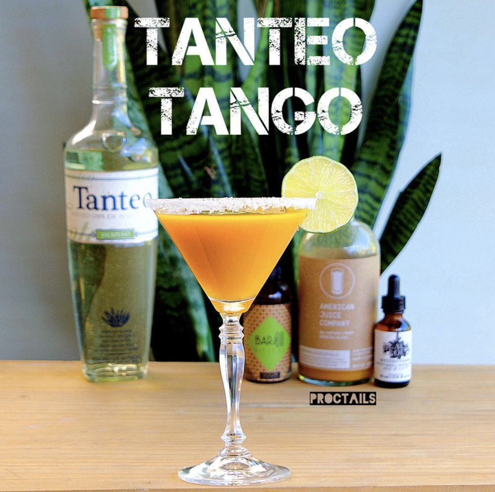 Tanteo Tango 2.0 oz Herman Mangoville 1.0 oz Tanteo Tequila 3 Drops saffron mango bitters 2 Drops Sour bitters Shake, strain, and enjoy (Recipe by @proctails)