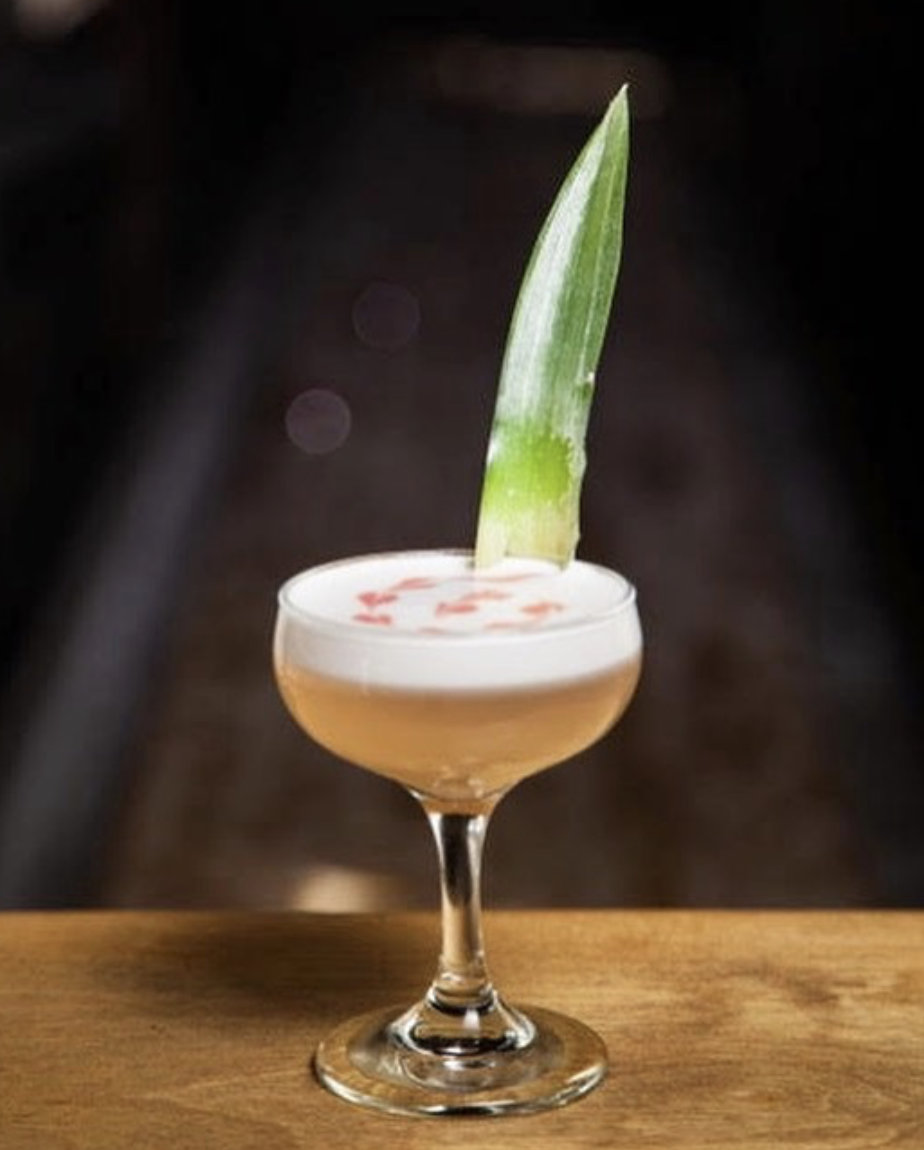 The Lady Lychee   2.0 oz. Lady Lychee 1.5 oz. Gin 1.0 oz. Sour 0.5 oz. Simple syrup (Recipe by Armando Rosario, Mixologist for Diageo)