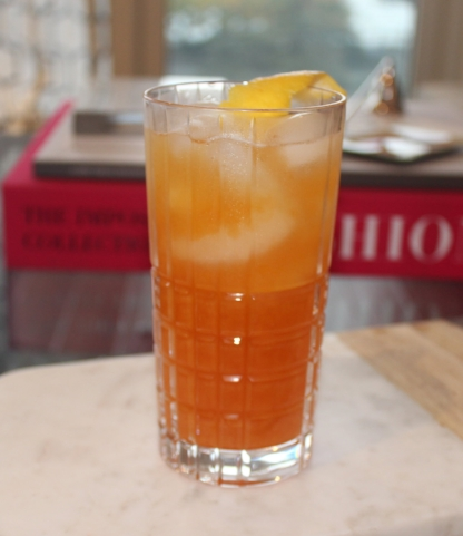 Red-Headed Guatemalan 0.75 oz. Harriet Peacher Stowe 1.5 oz. Ron Zacapa Centenario Sistema Solera 23 Rum 075 oz. Domaine de Canton ginger liqueur 0.75 oz. Chase Marmalade Vodka 2 Dashes Regan's Orange Bitters No. 6 1.0 Lemon twist, as garnish Shake over ice and strain into a chilled rocks glass.  Squeeze the twist over the drink and add as garnish (Recipe by Anne Donovan, Christopher's Bistro, for Gas Regan's Cocktails in the Country)