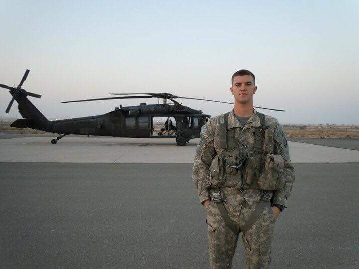 Sgt. Jonathan Gavin-Patterson, Black Hawk Crew Chief, OIF 2010-11 Photo courtesy of Jonathan Gavin-Patterson