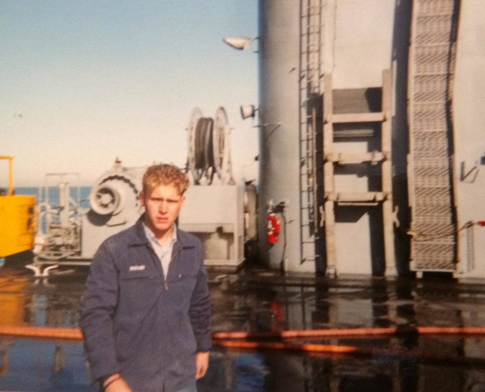 A very young Seaman Durant somewhere near Panama, circa 1992.