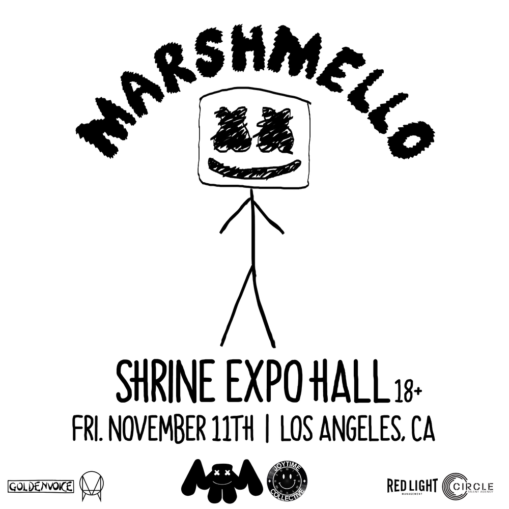 Marshmello, LA Debut Performance Admat