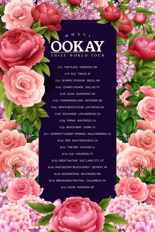 Ookay, Thief World Tour