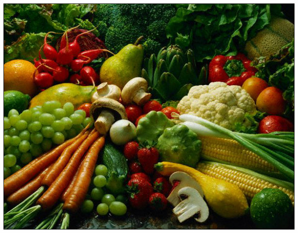 Studies show that a high intake of fruits and vegetables, whether organic or conventionally grown, is linked with lower levels of chronic disease.