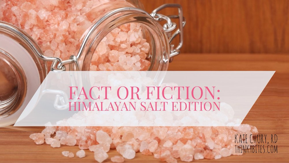 Fact or Fiction: Himalayan Salt Edition
