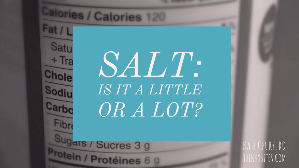 Salt: Is it a little or a lot?