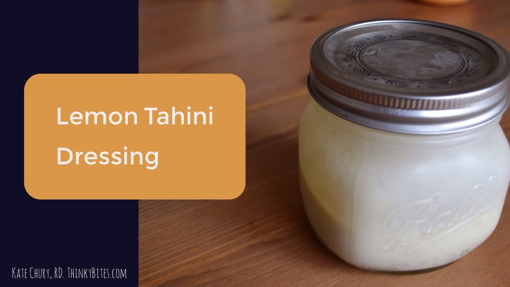 Lemon Tahini Dressing Kate Chury Dietitian Northwest Calgary